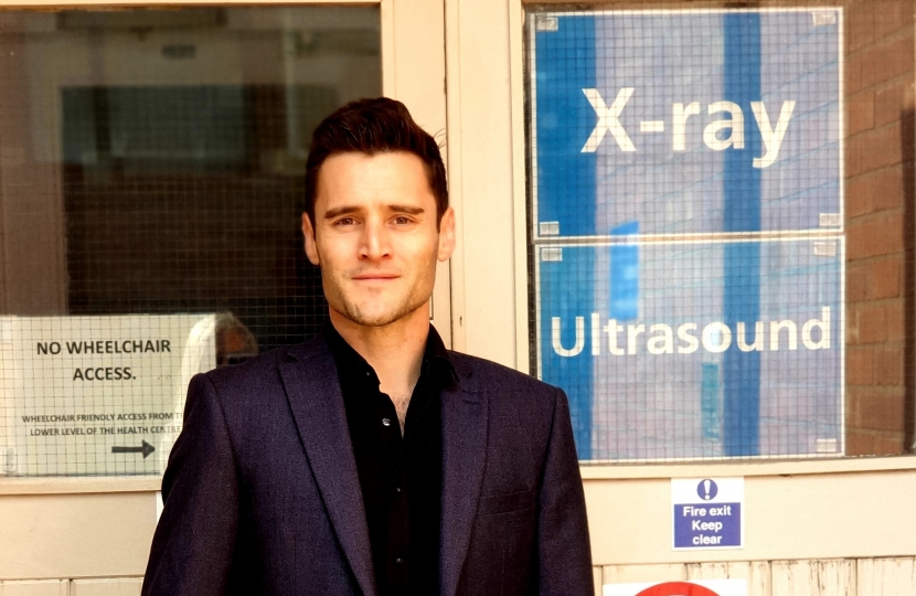 Dr Luke Evans at the Hinckley Xray Department